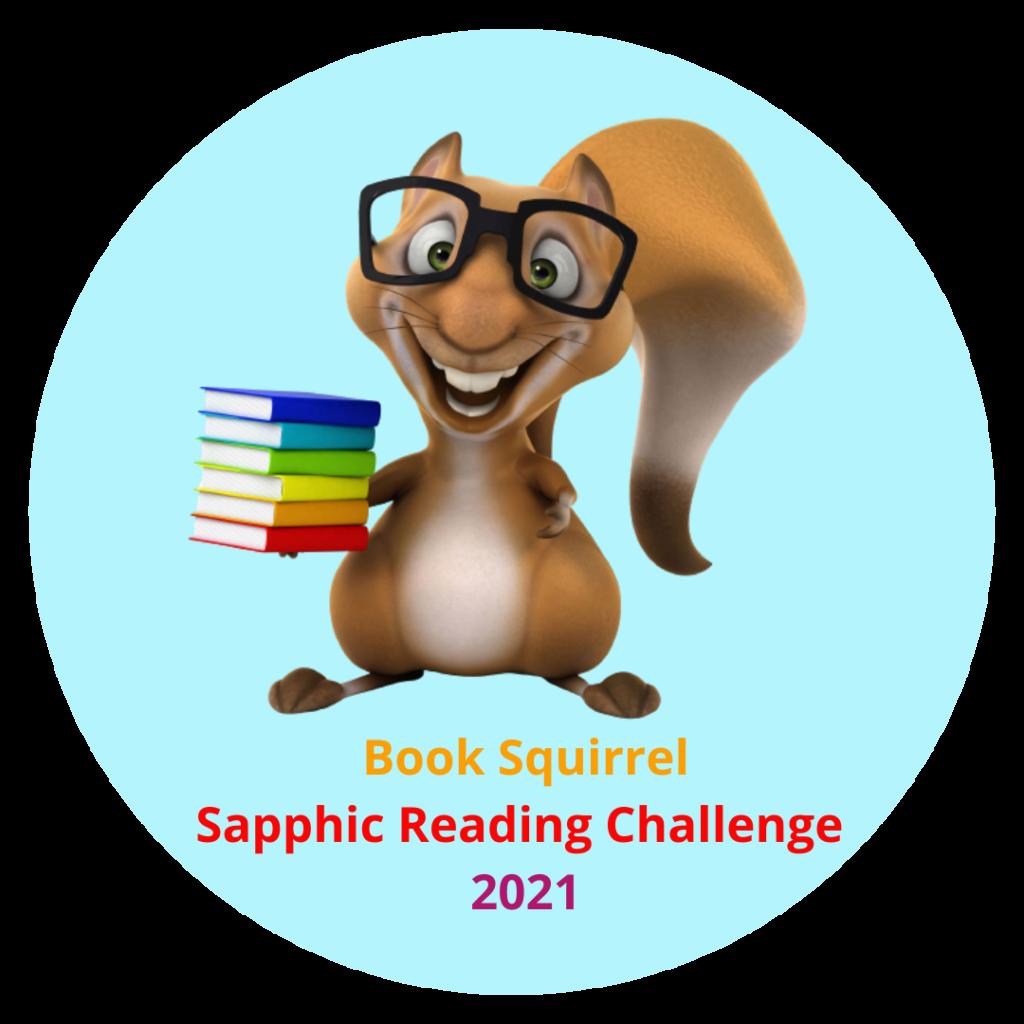 Sapphic Reading Challenge book squirrel