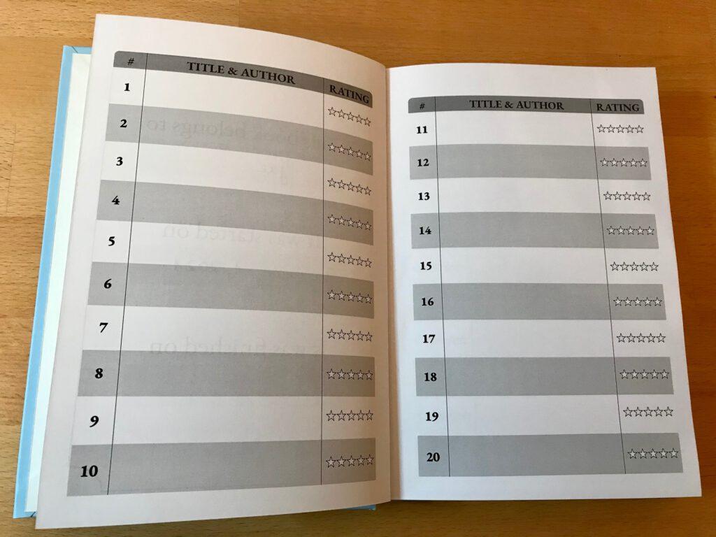 sapphic reading challenge book journal