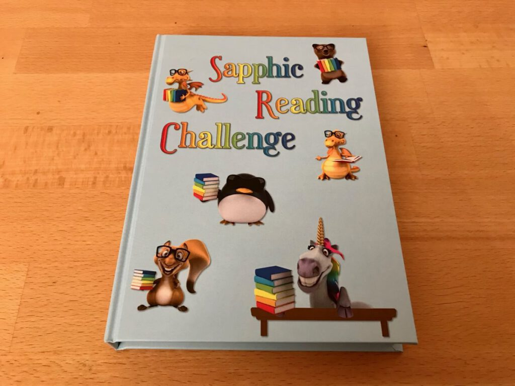 sapphic reading challenge book journal
