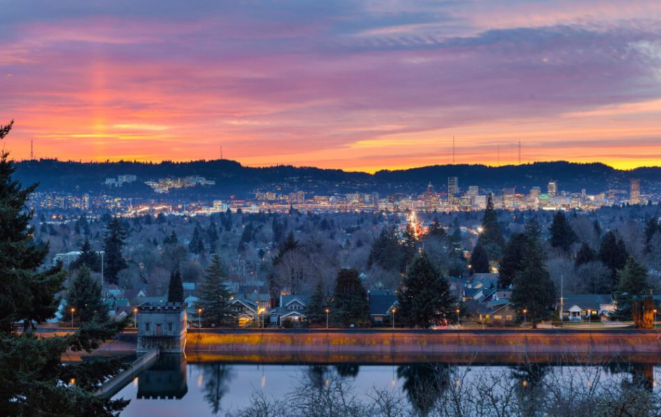 Sunset at Mount Tabor