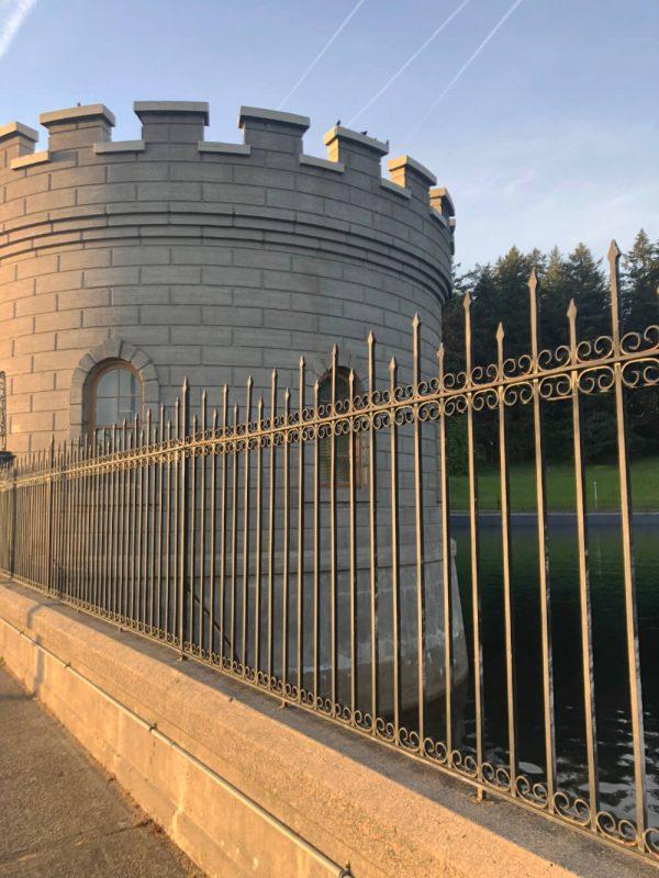 gate house at reservoir
